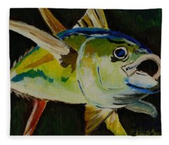 Yellow Fin Tuna Fleece Blanket