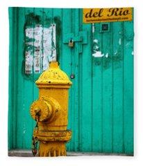 Yellow Fire Hydrant Fleece Blanket