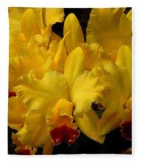 Yellow Folds Fleece Blanket