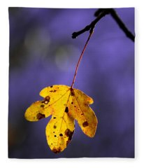 Yellow Leaf Fleece Blanket
