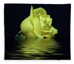 Yellow Rose II Fleece Blanket