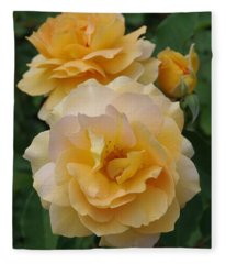 Yellow Roses Fleece Blanket