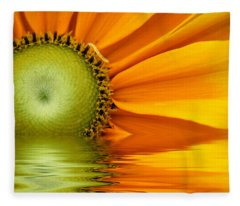 Yellow Sunflower Sunrise Fleece Blanket