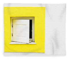 Yellow Window Fleece Blanket