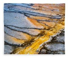 Yellowstone Nature Abstract Fleece Blanket