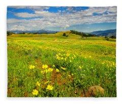 Yellowstone Blacktail Plateau Fleece Blanket