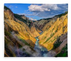 Yellowstone Canyon View Fleece Blanket