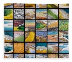 Yellowstone Colors Fleece Blanket