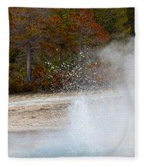 Yellowstone Geyser Fleece Blanket