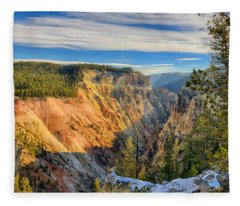 Yellowstone Grand Canyon East View Fleece Blanket