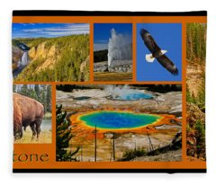 Yellowstone National Park Fleece Blanket