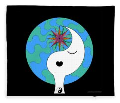 Yin Yang Crown 4 Fleece Blanket