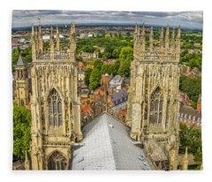 York From York Minster Tower Fleece Blanket