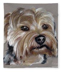 Yorkshire Terrier- Drawing Fleece Blanket