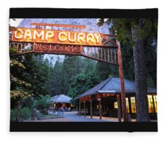 Yosemite Curry Village Fleece Blanket