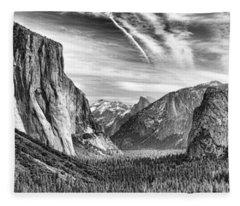 Yosemite Panoramic Fleece Blanket