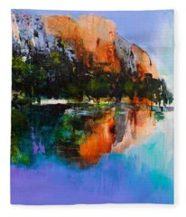 Yosemite Valley Fleece Blanket