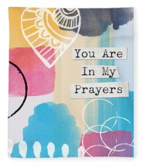 You Are In My Prayers- Colorful Greeting Card Fleece Blanket