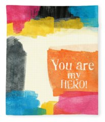 You Are My Hero- Colorful Greeting Card Fleece Blanket