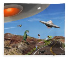 You Never Know . . . Panoramic Fleece Blanket