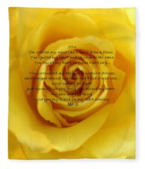 You Poem On Yellow Rose Fleece Blanket