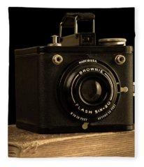You Push The Button We Do The Rest Kodak Brownie Vintage Camera Fleece Blanket