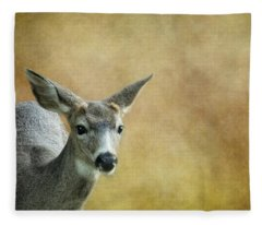 Young Buck Fleece Blanket