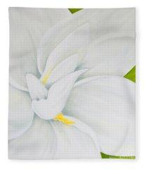 Young Gardenia Fleece Blanket