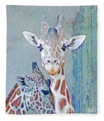 Young Giraffes Fleece Blanket