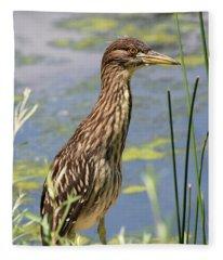 Young Heron Fleece Blanket