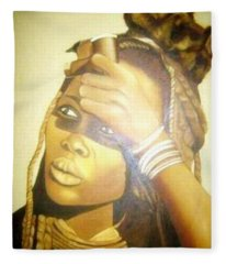 Young Himba Girl - Original Artwork Fleece Blanket