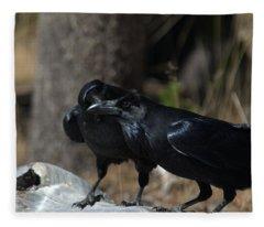 You've Got Something On Your Beak Fleece Blanket