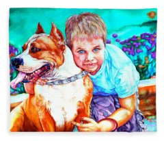 Zac And Zuzu Fleece Blanket