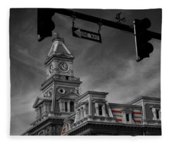 Zanesville Oh Courthouse Fleece Blanket
