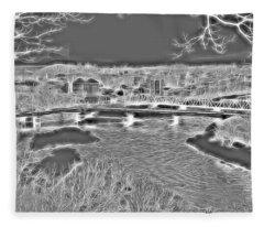 Zanesville Ohio Ybridge Fleece Blanket
