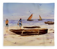 Zanzibar Forzani Beach Fleece Blanket