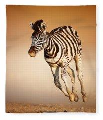 Zebra Calf Running Fleece Blanket