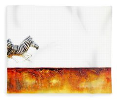 Zebra Crossing - Original Artwork Fleece Blanket