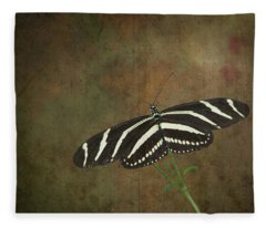 Zebra Longwing  Butterfly-1 Fleece Blanket