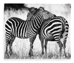 Zebra Love Fleece Blanket
