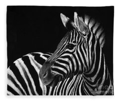 Zebra No. 3 Fleece Blanket