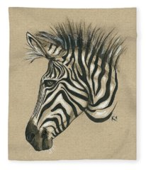 Zebra Profile Fleece Blanket