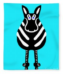 Zebra - The Front View Fleece Blanket