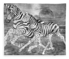 Zebras I Of II Fleece Blanket
