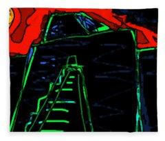 Ziggurat Nites Fleece Blanket