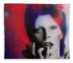 Ziggy Stardust Fleece Blanket