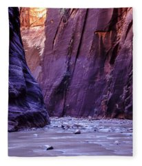 Zion Narrows Fleece Blanket