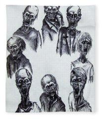Zombies Fleece Blanket