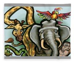 Zoo Animals Fleece Blanket