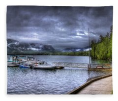 Boat Dock At Sperry Chalet Fleece Blanket
